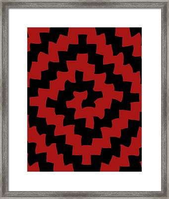 Yin And Yang Take A Trip Framed Print by Vic Eberly