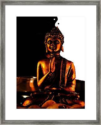 Yin Yang Buddha Framed Print