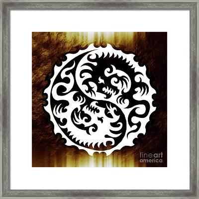 Yin Yang By Sarah Kirk Framed Print