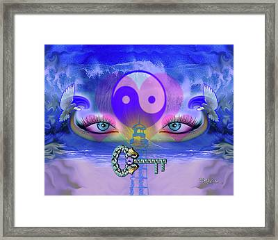 Yin Yang Key To Peace #190 Framed Print