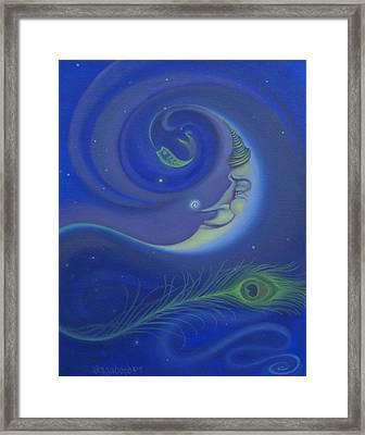Yin Yang Moon Framed Print