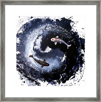 Yin - Yang Framed Print by Sandi Baker