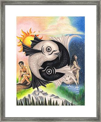 Yin-yang Framed Print by Scarlett Royal