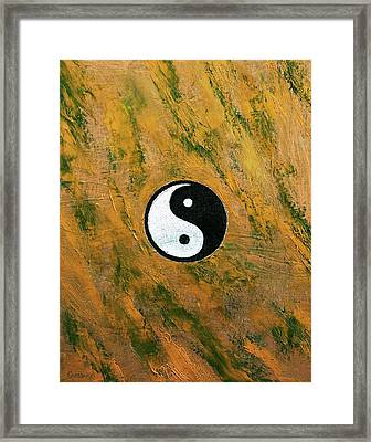 Yin Yang Stone Framed Print by Michael Creese