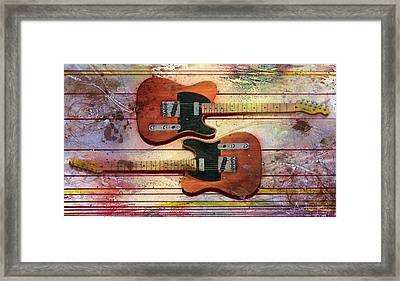Framed Print featuring the painting Yin-yang Teles by Andrew King