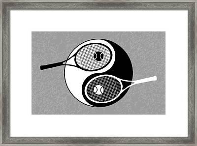 Yin Yang Tennis Framed Print by Carlos Vieira