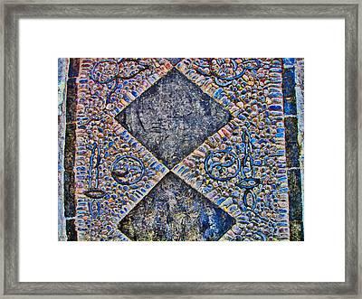Yin-yang. Texture Of China. Beijing Framed Print by Andy Za