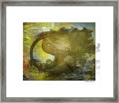 Ying And Yang Unbalanced Framed Print