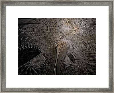 Ying-yang Moth Framed Print by Elena Ivanova IvEA