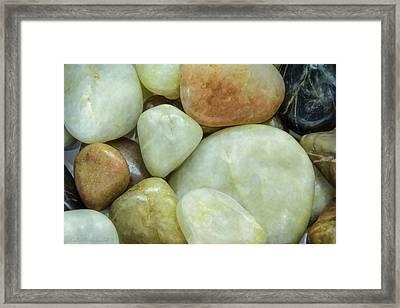 Ying Yang Rocks Framed Print