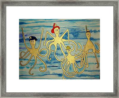 Framed Print featuring the painting Ymca Octopai by Erika Swartzkopf