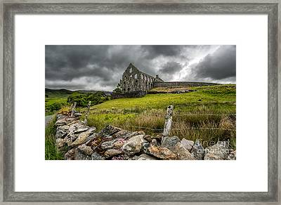 Ynys-y-pandy Slate Mill Framed Print by Adrian Evans