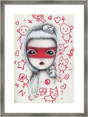 Yo  Framed Print by Abril Andrade Griffith