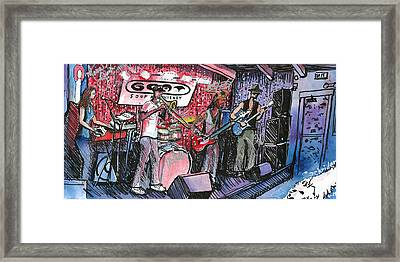 Yo Mammas Big Fat Booty Band Framed Print by David Sockrider