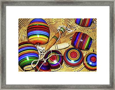 Yo Yos 7881 Framed Print by David Mosby