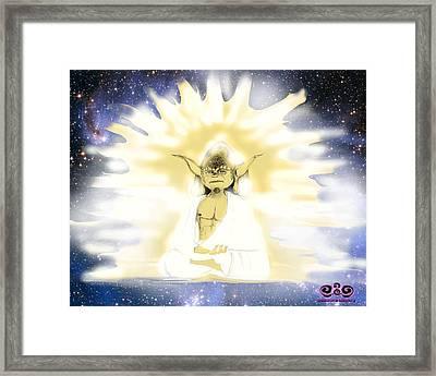 Yoda Budda Framed Print