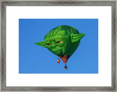 Yoda Hot Air Balloon Framed Print