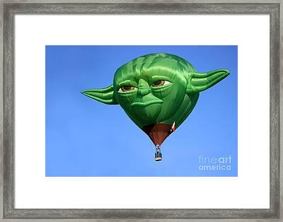 Yoda In The Sky Framed Print
