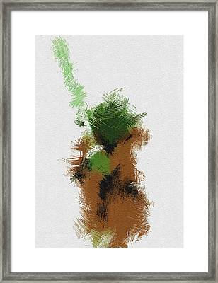 Yoda Framed Print by Miranda Sether