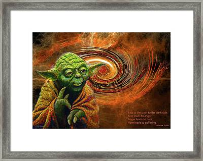 Yoda-no Fear Framed Print by Michael Durst