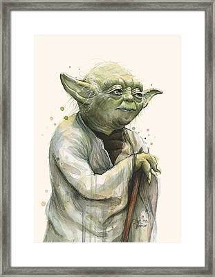 Yoda Portrait Framed Print