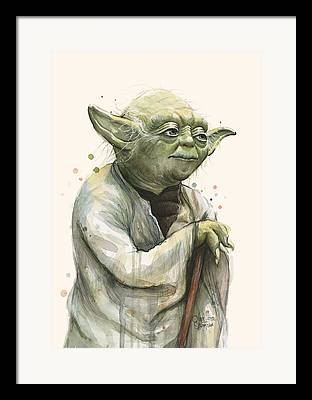 Yoda Framed Prints