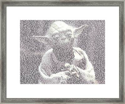 Yoda Quotes Mosaic Framed Print