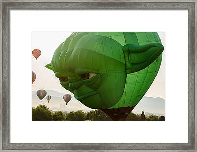 Yoda Framed Print by Rick Mosher