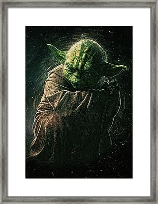 Yoda Framed Print by Semih Yurdabak