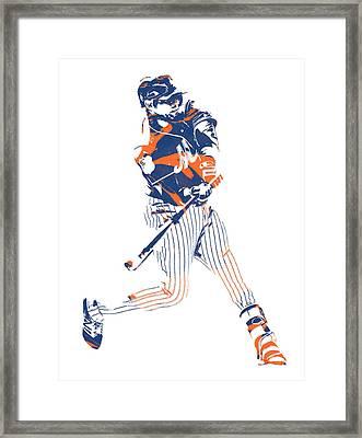 Yoenis Cespedes New York Mets Pixel Art 2 Framed Print
