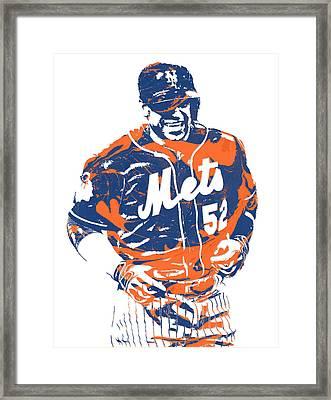 Yoenis Cespedes New York Mets Pixel Art 3 Framed Print