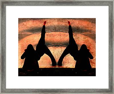 Yoga Art Split Your Body Apart Framed Print