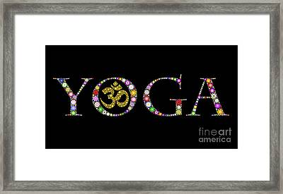 Yoga Aum Framed Print by Tim Gainey