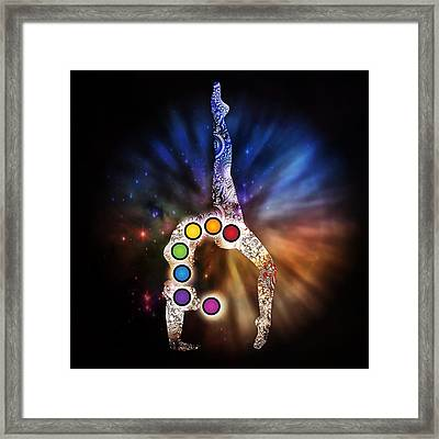 Yoga Chakra Art Framed Print by Serena King