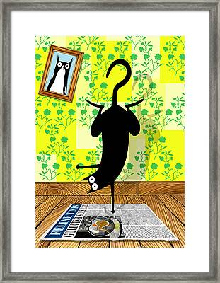 Yoga Mat Framed Print by Andrew Hitchen