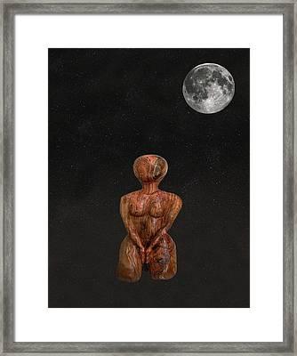 Yoga Mulabandhasana Framed Print by Eric Kempson