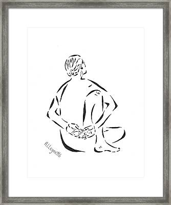 Yoga Framed Print by Pamela Allegretto