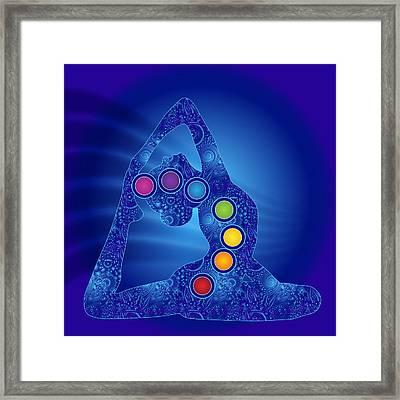 Yoga Pose Chakra Framed Print by Serena King