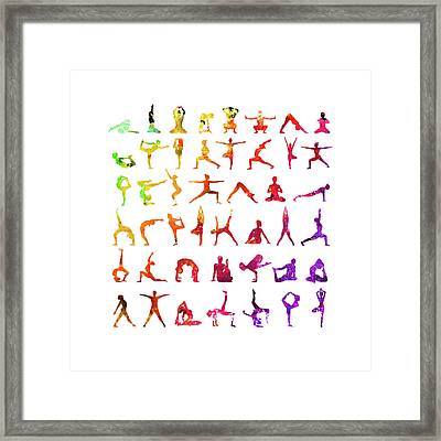 Yoga Poses  Framed Print
