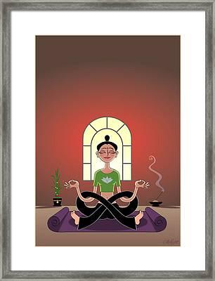 Yoga Pretzel Framed Print by Cristina McAllister