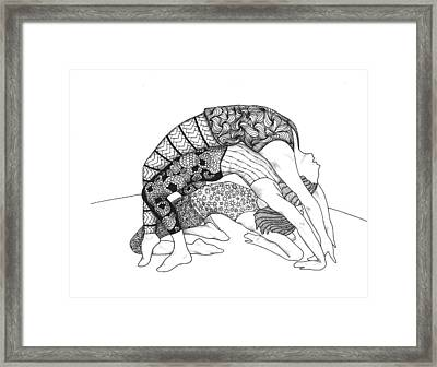 Yoga Sandwich Framed Print
