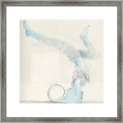Yoga Takes Me To Another World.  Framed Print by R G Alexander