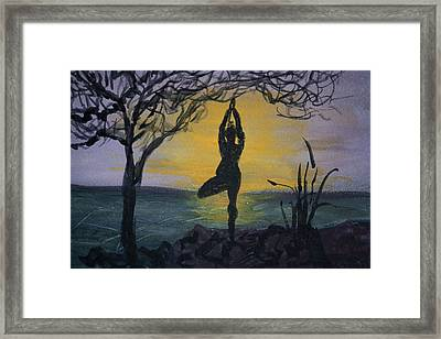 Yoga Tree Pose Framed Print