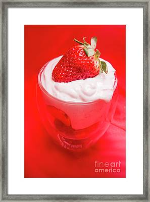 Yoghurt And Berry Dessert Framed Print