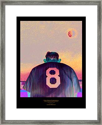 Yogi Bids Farewell Framed Print by Gregg Hinlicky