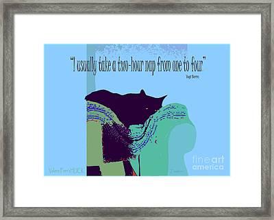 Yogi Cat Nap Framed Print