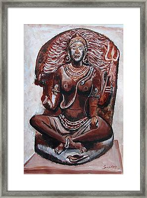 Framed Print featuring the painting Yogini by Anand Swaroop Manchiraju