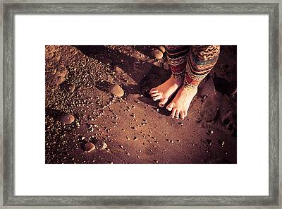 Framed Print featuring the photograph Yogis Toesies by T Brian Jones