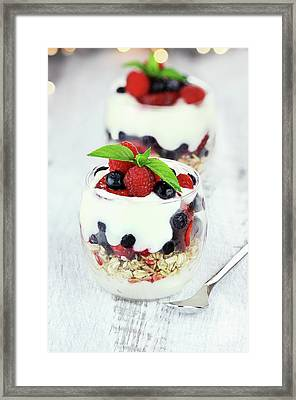 Yogurt Parfait Framed Print by Stephanie Frey