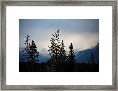 Framed Print featuring the photograph Yoho Mountains British Columbia Canada by Jane Melgaard